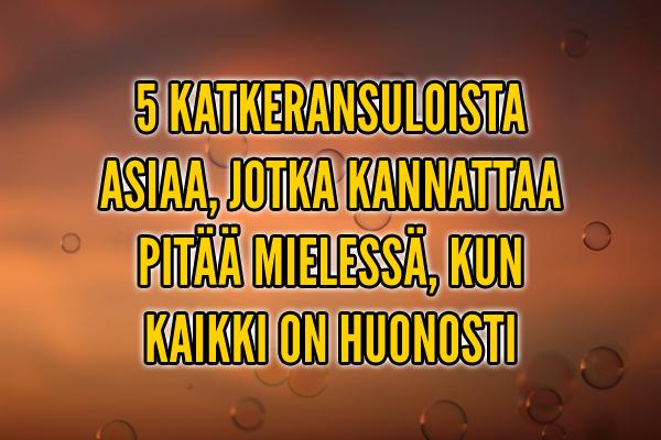 5 katkeransuloista