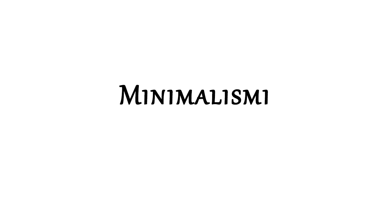 minimalismi teemu kunto